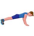 push-ups man vector image