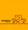 question mark background with text space area vector image