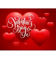 Red Blur Hearts Valentine day background vector image vector image