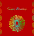 red greeting card template happy birthday vector image