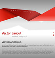 Red Layout vector image