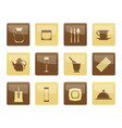 restaurant cafe bar and night club icons vector image