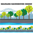 Seamless background design with trees and vector image