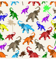 seamless pattern with asian elephant vector image