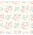 Seamless pattern with balloons Vintage doodle vector image vector image