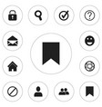set of 12 editable internet icons includes vector image vector image