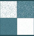 set of four seamless patterns witn snowmen vector image vector image