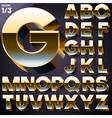 set of golden 3d alphabet