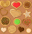 Set of isolated cookies vector image vector image