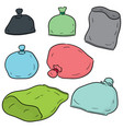 set of plastic bag vector image vector image