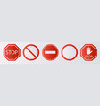 set of prohibiting sign signs of stop on white vector image vector image
