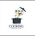 soup cooking logo healthy design inspiration vector image vector image