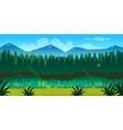 spring forest landscape vector image vector image