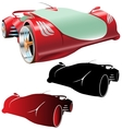 supercar concept and silhouettes vector image vector image