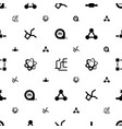 symbol icons pattern seamless white background vector image vector image