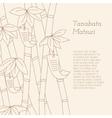 Tanabata Festival handdrawn bamboo tree with vector image