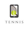 tennis club smartphone application vector image