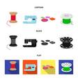thread reel sewing machine bobbin pugwitz and vector image vector image