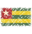 Togolese grunge flag vector image vector image