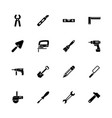 tools - flat icons vector image