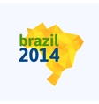 Triangle texture Brazil map vector image
