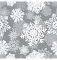 winter seamless background with snowflakes winter vector image vector image