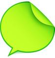 Green paper speech bubble sticker vector image