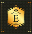 calligraphic design element brand golden emblem vector image
