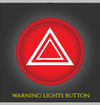 warning lights button in car vector image