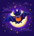 for children batn night vector image