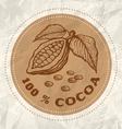 cocoa vintage paper vector image