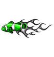 a clownfish design art vector image vector image