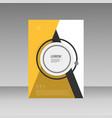abstract brochure design template flyer design vector image vector image