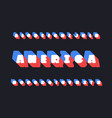 america font alphabet vector image