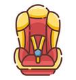 baby car seat linecolor vector image