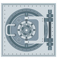 bank vault icon vector image vector image