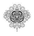 Black and White Tattoo Lotus vector image vector image