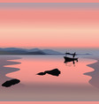 boat on the sunset vector image