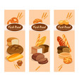 bread products vector image vector image