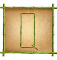 capital letter q made of green bamboo sticks on vector image vector image