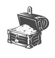 chest black and white objects vector image