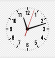 clock mockup hour minute and second hands with a vector image vector image