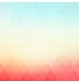 Colorful geometric background with vector image vector image
