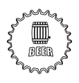 contour beer cap emblem icon image vector image vector image
