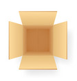 corrugated paper cardboard box shipping packing vector image vector image