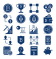 crypto currency icon collection in flat style vector image