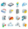 Database icons set vector image vector image