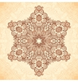 Decorative star mandala in Indian mehndi style vector image vector image