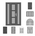 design door and front icon collection vector image vector image
