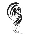 dragon on white vector image vector image